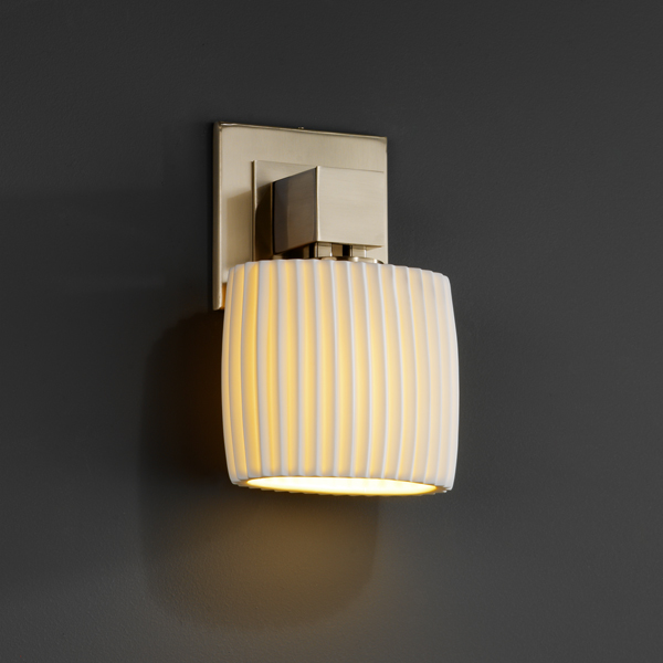 Justice Design (POR-8707) Aero ADA 1-Light Wall Sconce (No Arms) from the Limoges Collection