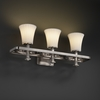 Justice Design (POR-8563) Arcadia 3-Light Bath Bar from the Limoges Collection