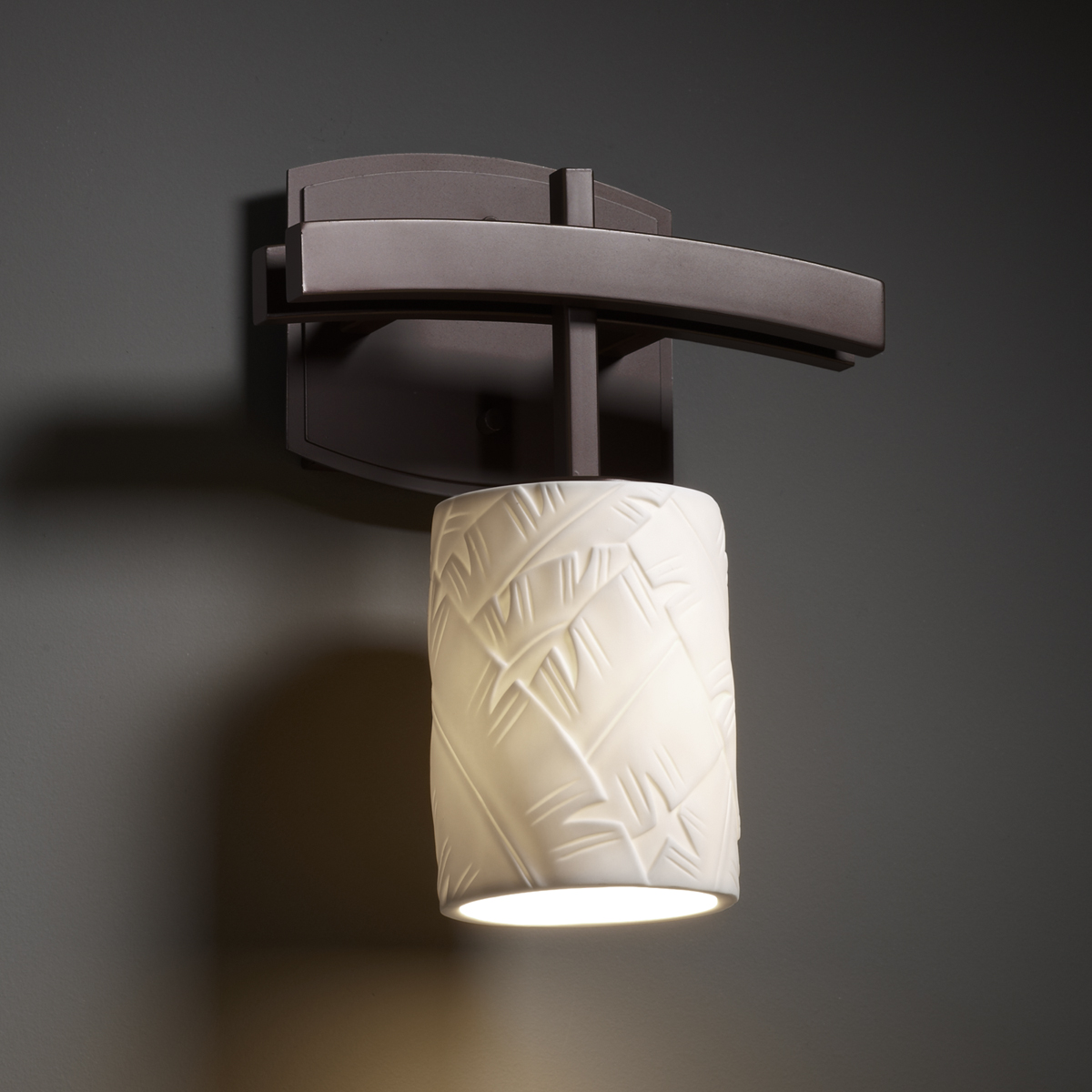 Justice Design Wall Sconces : Justice Design (POR-8591) Archway 1-Light Wall Sconce from the Limoges Collection