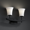 Justice Design (POR-8592) Archway 2-Light Bath Bar from the Limoges Collection