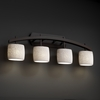Justice Design (POR-8594) Archway 4-Light Bath Bar from the Limoges Collection