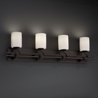 Justice Design (POR-8504) Argyle 4-Light Bath Bar from the Limoges Collection