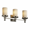 Justice Design (POR-8533) Deco 3-Light Bath Bar from the Limoges Collection