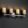 Justice Design (POR-8534) Deco 4-Light Bath Bar from the Limoges Collection