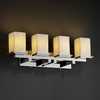 Justice Design (POR-8674) Montana 4-Light Bath Bar from the Limoges Collection