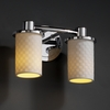 Justice Design (POR-8512) Rondo 2-Light Bath Bar from the Limoges Collection