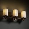 Justice Design (POR-8513) Rondo 3-Light Bath Bar from the Limoges Collection