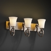 Justice Design (POR-8573) Victoria 3-Light Bath Bar from the Limoges Collection