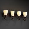 Justice Design (POR-8574) Victoria 4-Light Bath Bar from the Limoges Collection