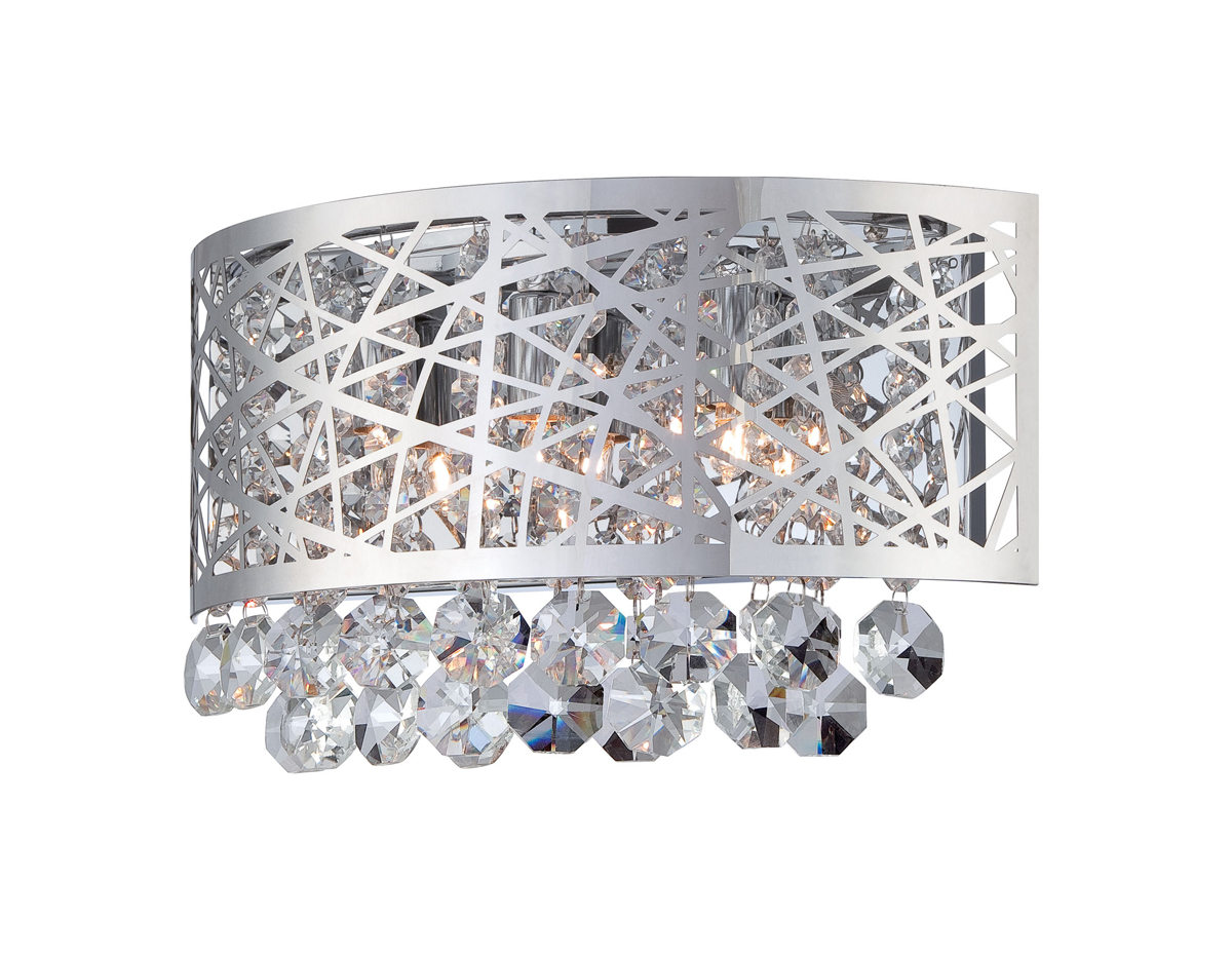 Lite Source (EL-10102) Benedetta Wall Sconce with Crystal Accents