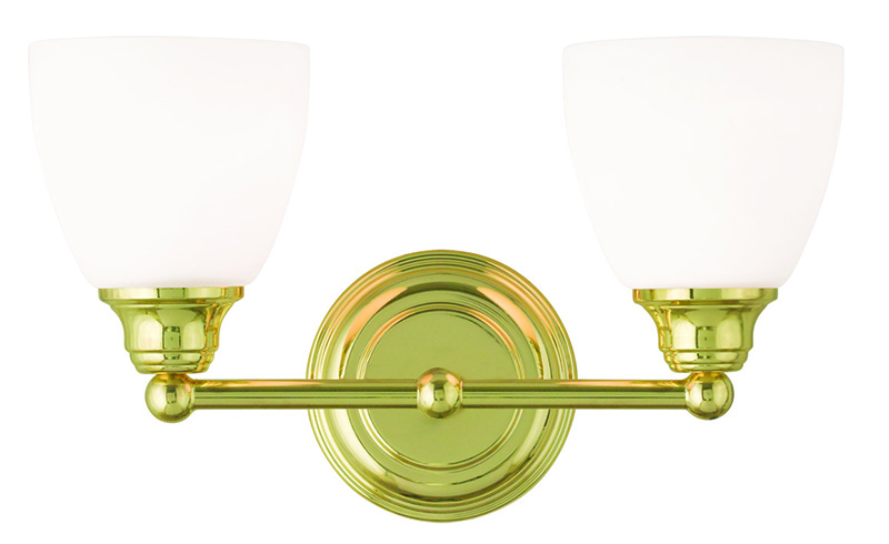 Livex Lighting 13662 Somerville 2 Light Bathroom Vanity Fixture Shown In Polished Brass