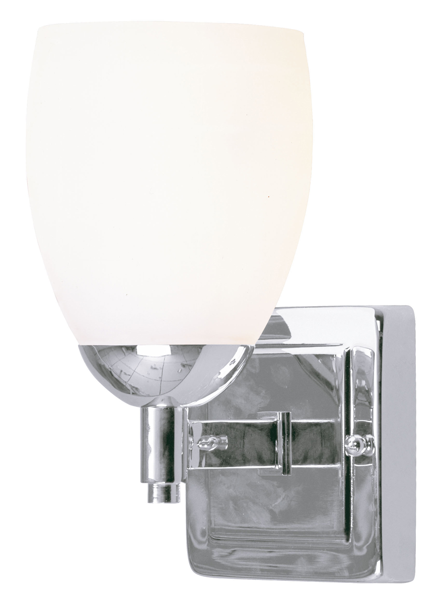 Livex Lighting 1401 Bloomfield 1 Light Bathroom Vanity Fixture Shown In Chrome