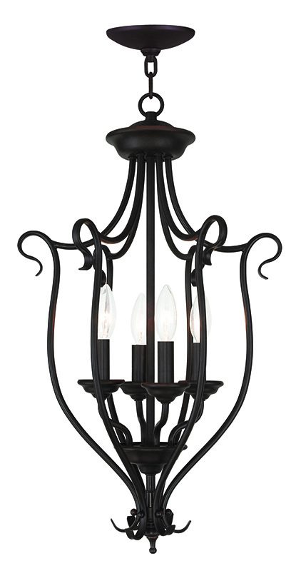 Bronze Foyer Chandelier : Livex lighting coronado light foyer chandelier
