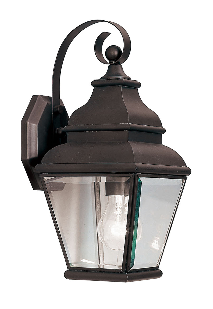 Wall Sconce Lighting Menards : Livex Lighting (2590) Exeter 1 Light Outdoor Wall Lantern shown in Bronze