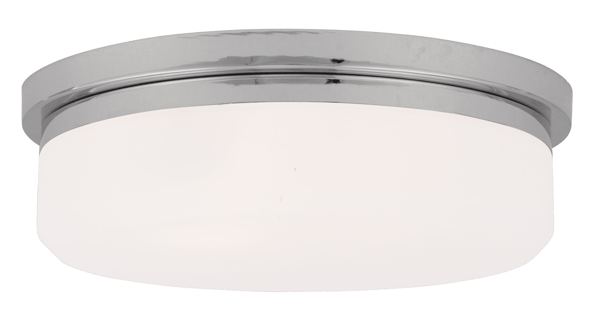 Livex Lighting (7393) Isis 3 Light Ceiling Mount or Wall Mount Fixture shown in Chrome