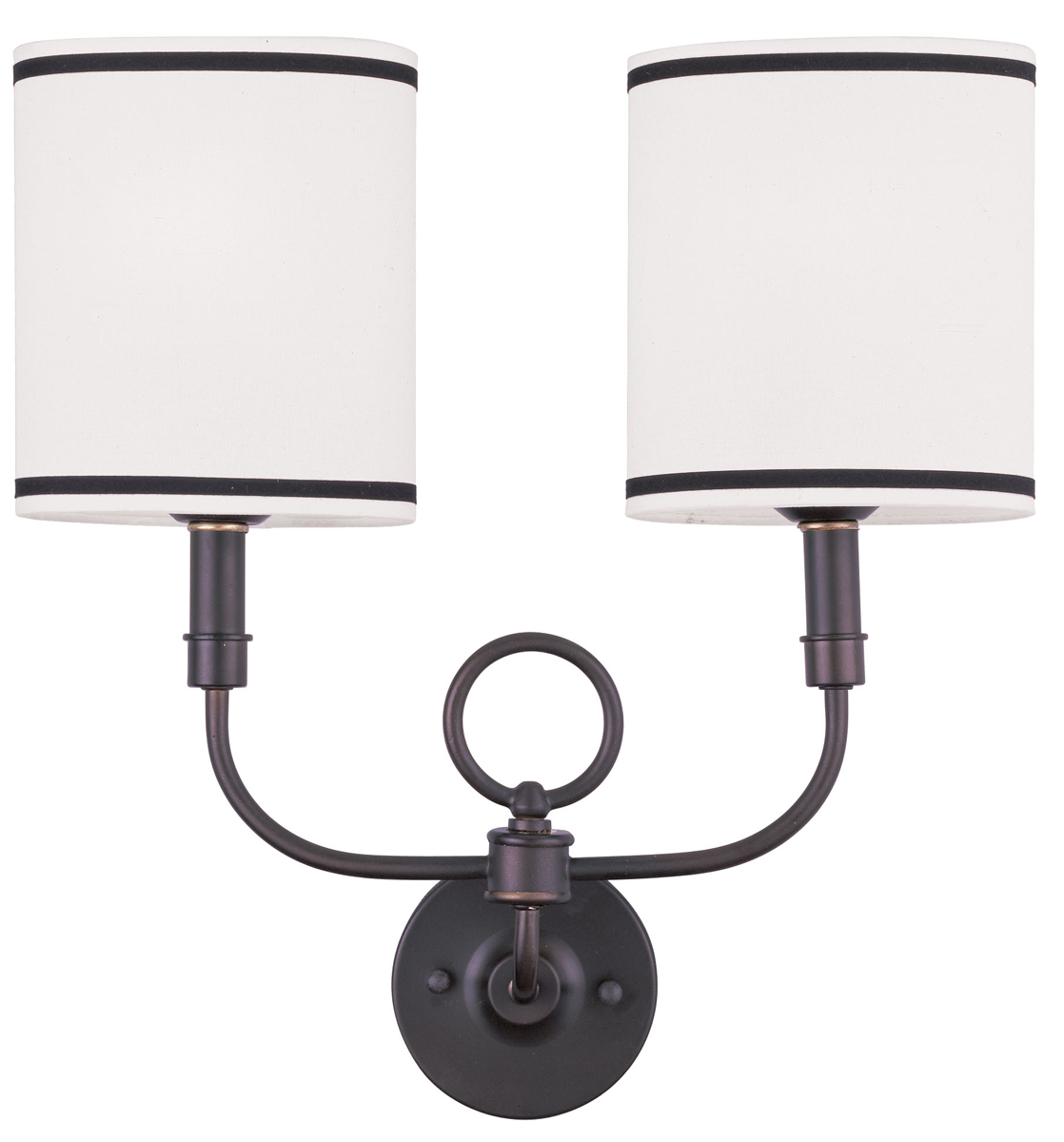 Wall Sconces 2 Lights : Livex Lighting (9122) Wall Sconces 2 Light ADA Compliant Wall Sconce shown in Bronze