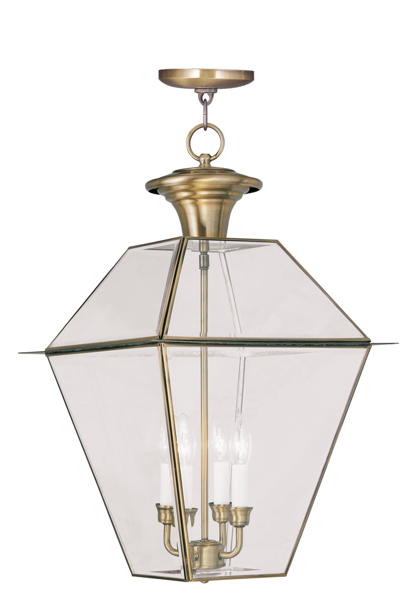 Livex Lighting 2387 Westover 4 Light Outdoor Chain Hang