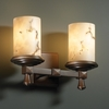 Justice Design (FAL-8532) Deco 2-Light Bath Bar from the LumenAria Collection