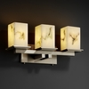 Justice Design (FAL-8673) Montana 3-Light Bath Bar from the LumenAria Collection