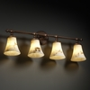 Justice Design (FAL-8524) Tradition 4-Light Bath Bar from the LumenAria Collection