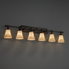 Justice Design (FAL-8526) Tradition 6-Light Bath Bar from the LumenAria Collection
