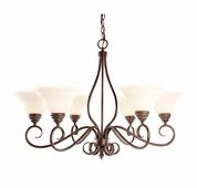 Savoy House (KP-104-6-91) Bryce 6 Light Chandelier in Sunset Bronze