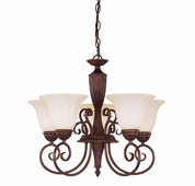 Savoy House (KP-1-5001-5-40) Liberty 5 Light Chandelier in Walnut Patina