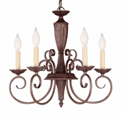 Savoy House (KP-1-5005-5-40) Liberty 5 Light Chandelier in Walnut Patina
