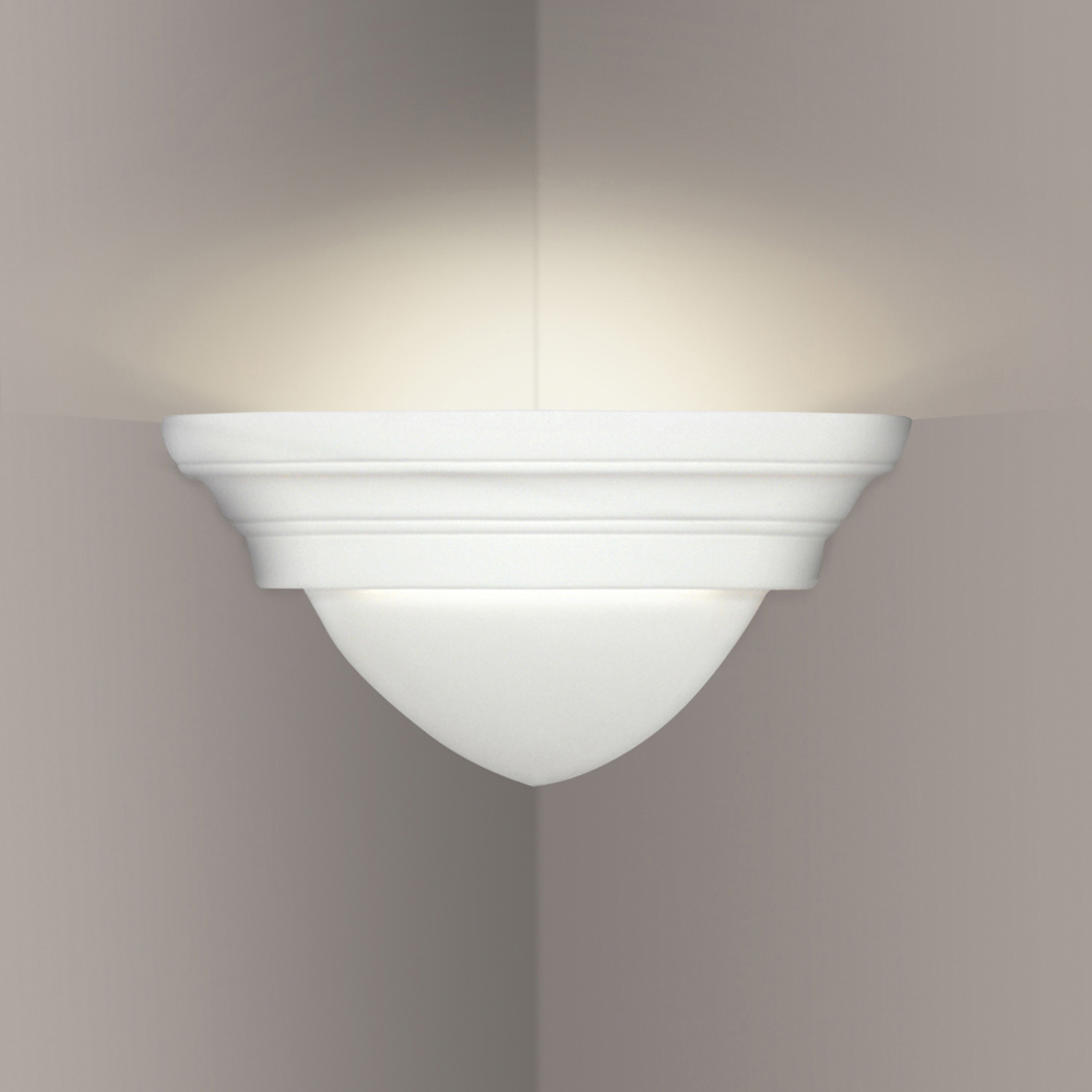 Corner Wall Light Fixture : Majorca Corner Sconce 1 Light Fixture shown in Bisque by A19 Lighting - A19-102CNR