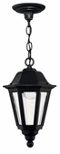 Hinkley Lighting (1412BK) Manor House Outdoor Hanger in Black with Clear Beveled Panels