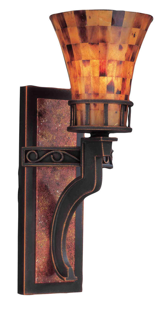 Kalco Lighting (2595) Marlowe 1 Light Wall Bracket with Penshell Shades