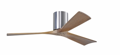 Matthews Fan Company (IR3H) Irene-3H Three Bladed Paddle Ceiling Fan shown in Polished Chrome