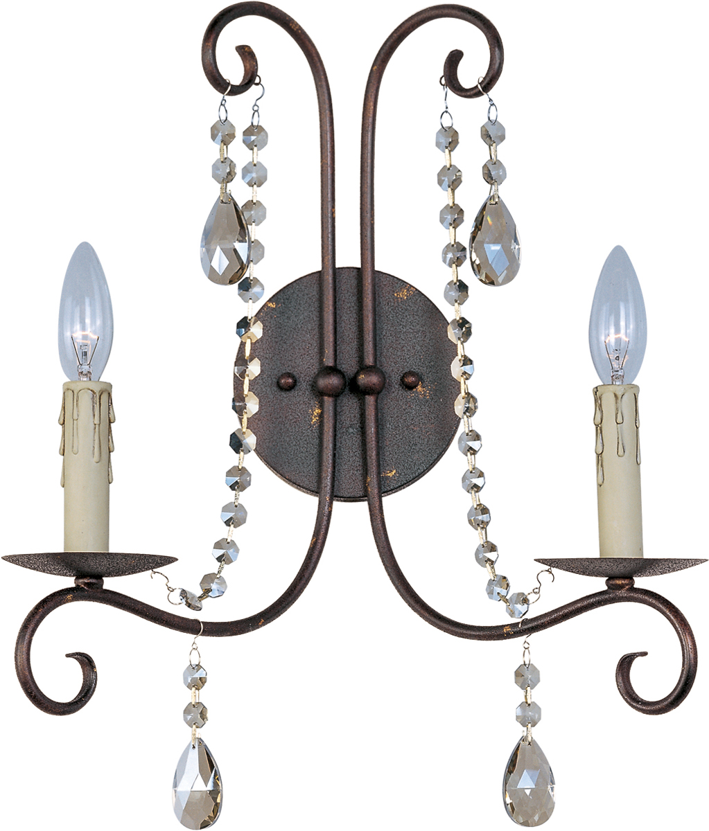 Wall Sconce Rough In Height : Maxim Lighting (22192) Adriana 2-Light Wall Sconce shown in Urban Rustic