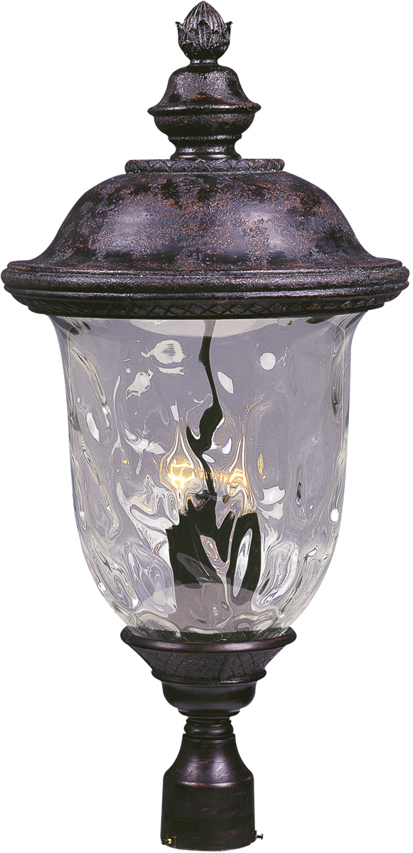 Maxim Lighting (3421) Carriage House DC 3 Light Outdoor Pole/Post Lantern  Shown In Oriental Bronze With ...