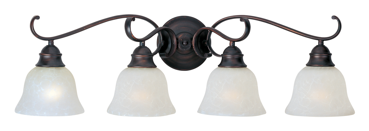 Energy Efficient Light Bulbs Bathroom Vanity : Maxim Lighting (85810) Energy Efficient - Linda 4-Light Bath Vanity shown in Oil Rubbed Bronze ...
