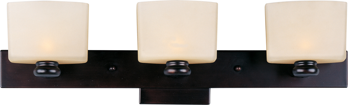 Bathroom Light Fixtures Oil Rubbed Bronze maxim lighting (9003) essence 3-light bath vanity shown in oil