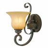 Golden Lighting (GLDN-7116-1W) Mayfair 1 Light Wall Sconce shown in Leather Crackle with Crème Brulee Glass