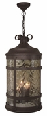 Exteriors by Craftmade (Z5011-91) Espana 4 Light Pendant in Rustic Iron & Champagne Hammered Glass