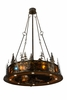 Meyda Tiffany (137589) 48 Inch Width Tall Pines with Uplights with LED Spotlight Chandel-Air