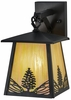 Meyda Tiffany (150784) 7 Inch Width Mountain Pine Hanging Wall Sconce