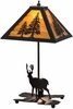 Meyda Tiffany (153127) 21 Inch Height Lone Deer with Lighted Base Table Lamp