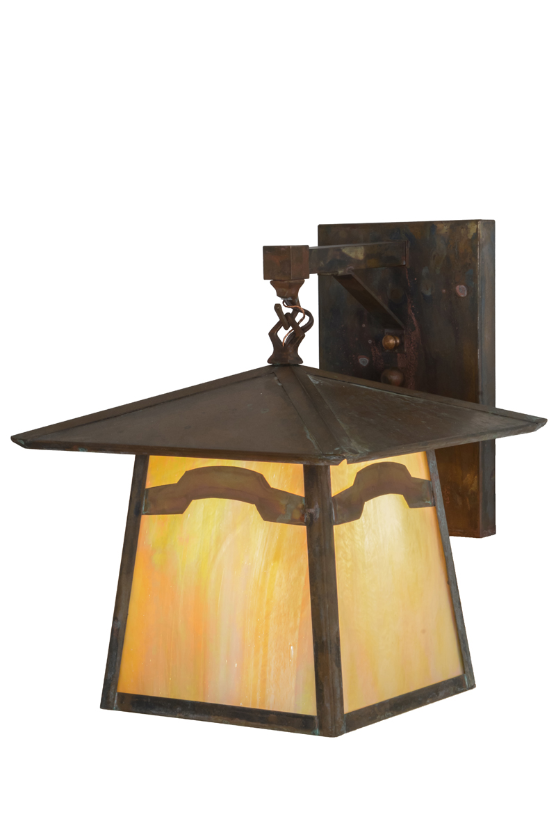 Meyda Tiffany (54632) 12 Inch Width Stillwater Mountain View Hanging Wall Sconce