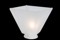 Meyda Tiffany (108140) 4 InchSq Mission Frosted White 2 Inch Neck Replacement Shade