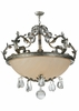 Meyda Tiffany (120442) 42.5 Inch Width Renaissance with Crystals Inverted Pendant