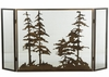 Meyda Tiffany (126060) 56 Inch Width X 30 Inch Height Tall Pines Folding Fireplace Screen