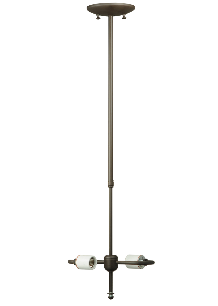 Meyda Tiffany (127891) 24 Inch-40 Inch Single Stem 2 Light Hrdwre