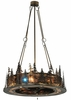 Meyda Tiffany (130184) 48 Inch Width Tall Pines with Uplights with LED Spotlight Chandel-Air
