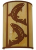 Meyda Tiffany (130803) 12 Inch Width Leaping Trout Wall Sconce