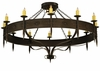 Meyda Tiffany (131478) 72.5 Inch Width Warwick 12 Light with Downlights Chandelier