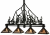 Meyda Tiffany (132767) 59.75 Inch Length Tall Pines 4 Light Island Pendant